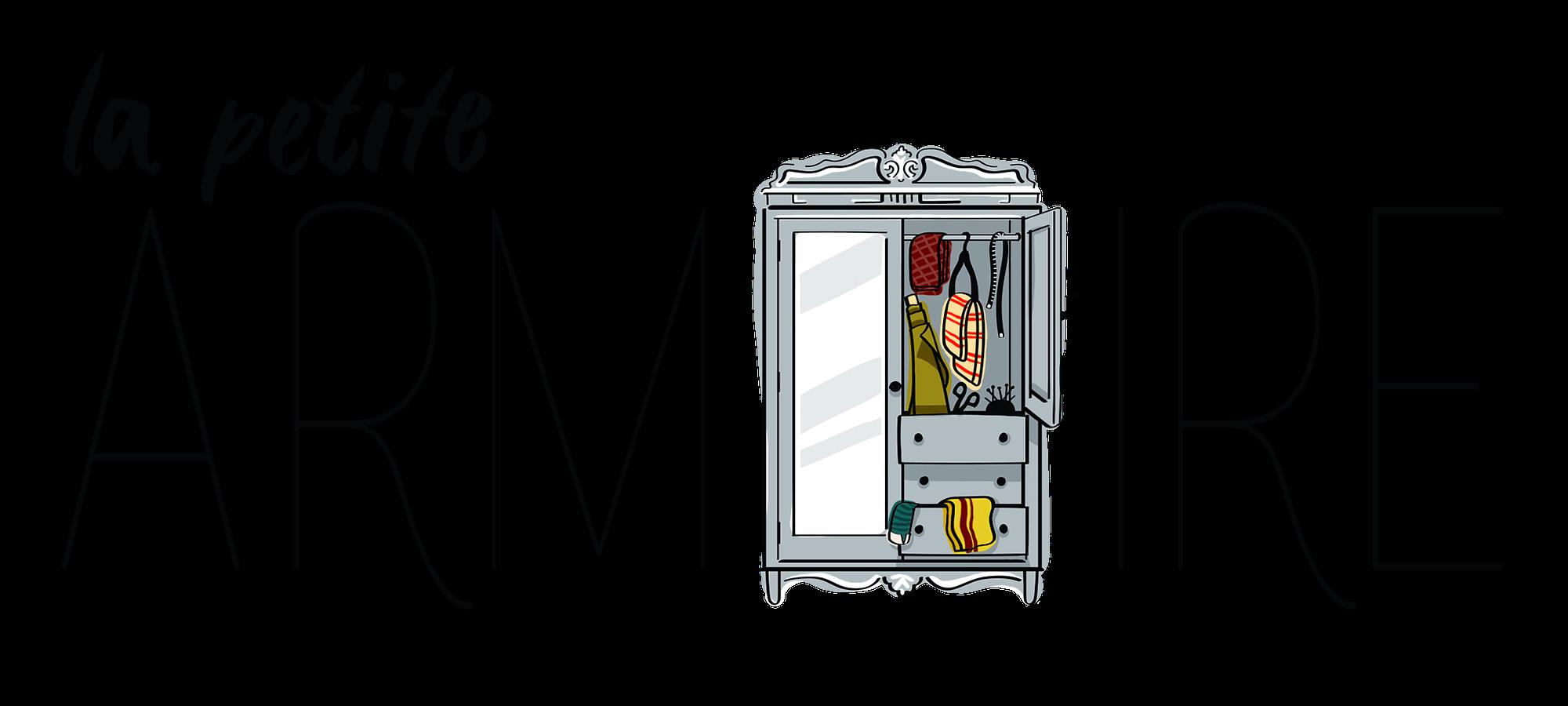la petite armoire, cours de couture, apprentissage, tissus, outils, couture